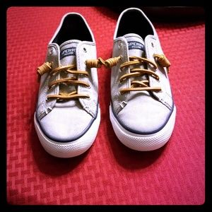 Gently Preloved Sperry canvas shoes